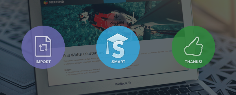 First milestone of Smart Slider 2