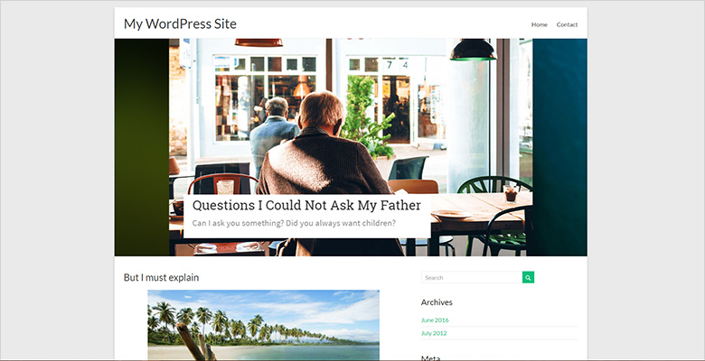 Spacious WordPress theme with Smart Slider 3