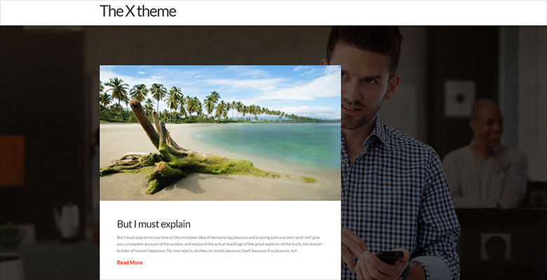 X WordPress theme with Smart Slider 3