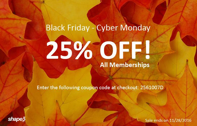 Shape 5 Black Friday deal