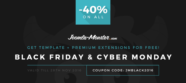 Joomla-Monster Black Friday deal