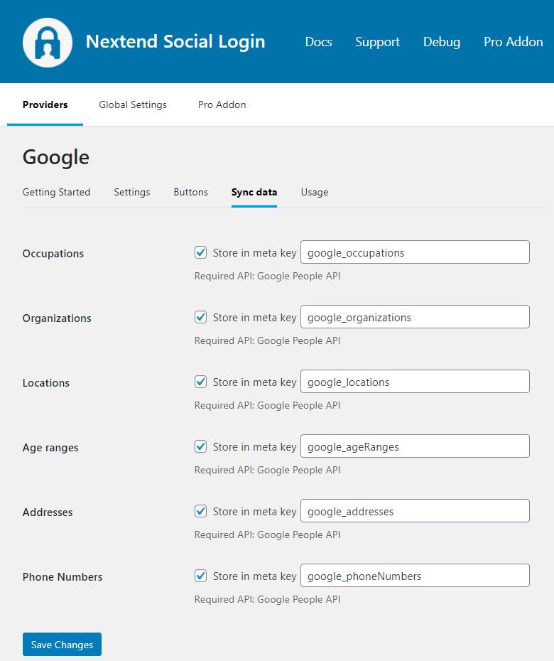 Google Sync Data 2