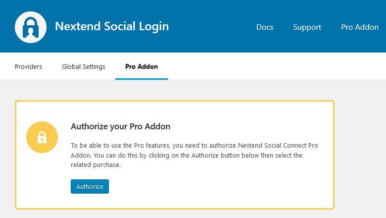 Authorize the Pro Addon