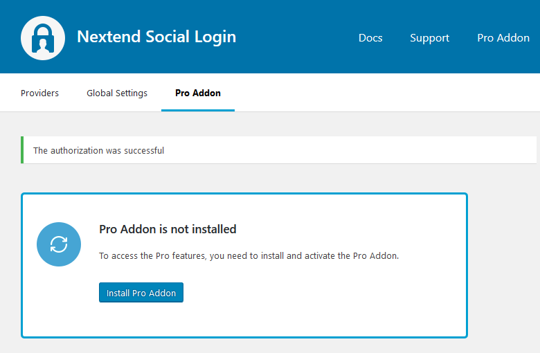 Install the Pro Addon