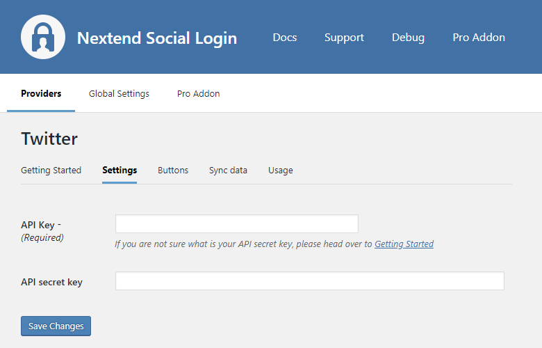 Provider - Twitter – Nextend Social Login – WordPress Plugin