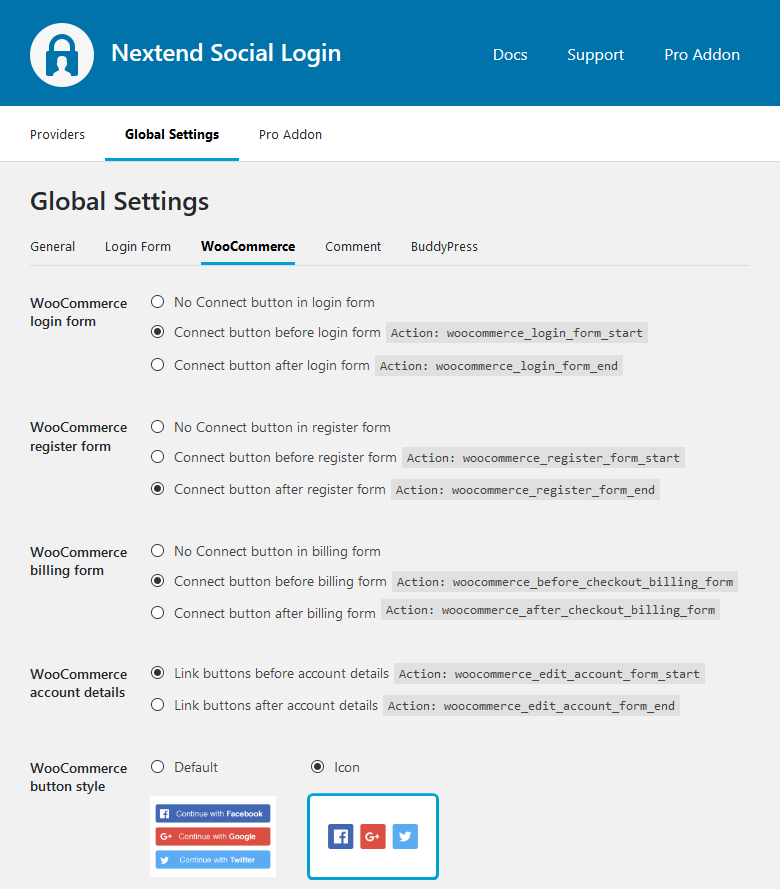 Global Settings WooCommerce