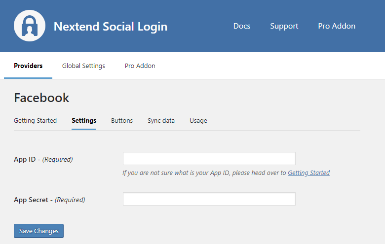 Facebook Provider Configuration