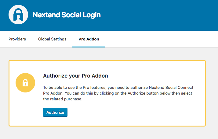 Authorize Nextend Social Login
