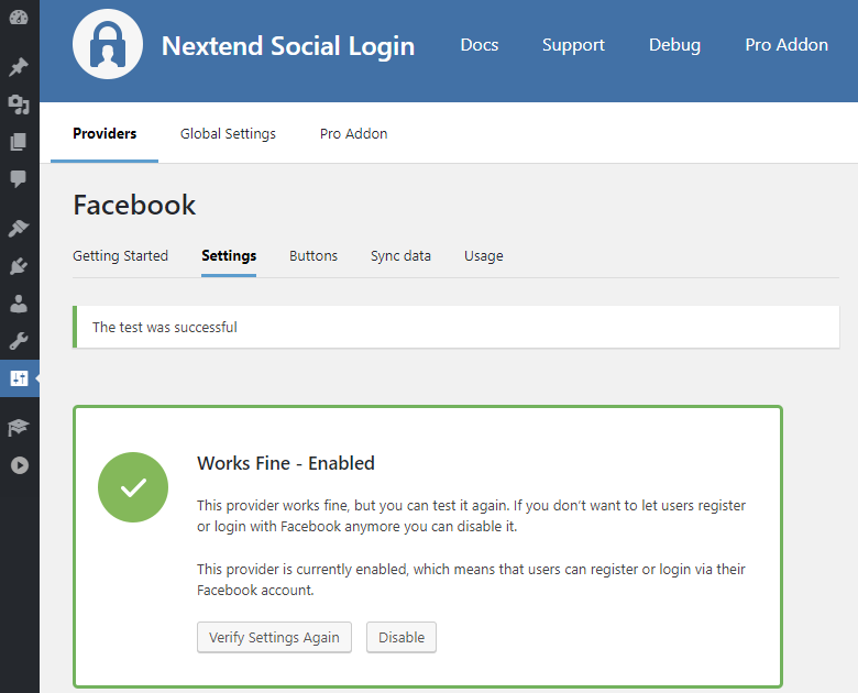 NSL - Facebook Login Verified