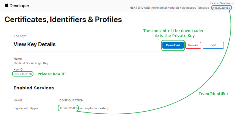 Sign with Apple - Identifier locations