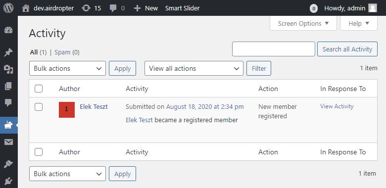 BuddyPress Activity